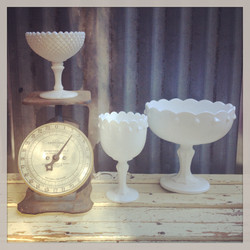 {Milk Glass Compotes}