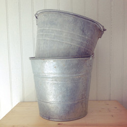 {Galvanized Buckets}