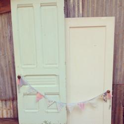 {Mint/Blush & Cream Doors}