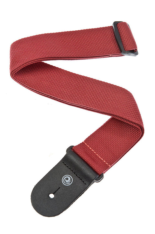 PLANET WAVES POLYPROPYLENE GUITAR STRAP, RED