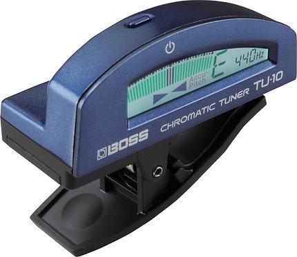 BOSS CLIP-ON CHOME/TUNER BLUE - TU-10 BLUE