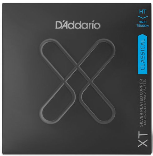 D'ADDARIO XT CLASSICAL SILVER PLATED COPPER, HARD TENSION