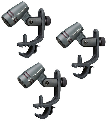 SENNHEISER e 604 3PACK CARDIOID MICROPHONE - DRUMS AND BRASS INSTRUMENTS