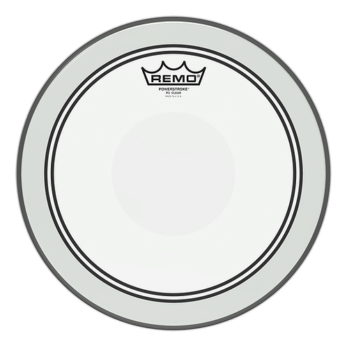 REMO POWERSTROKE P3 CLEAR DRUMHEAD - TOP CLEAR DOT, 12""