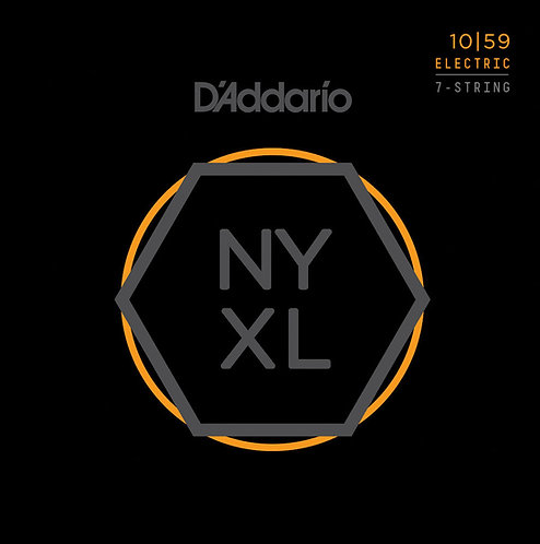 D'ADDARIO NYXL1059 NICKEL WOUND 7-STRING , REGULAR LIGHT, 10-59
