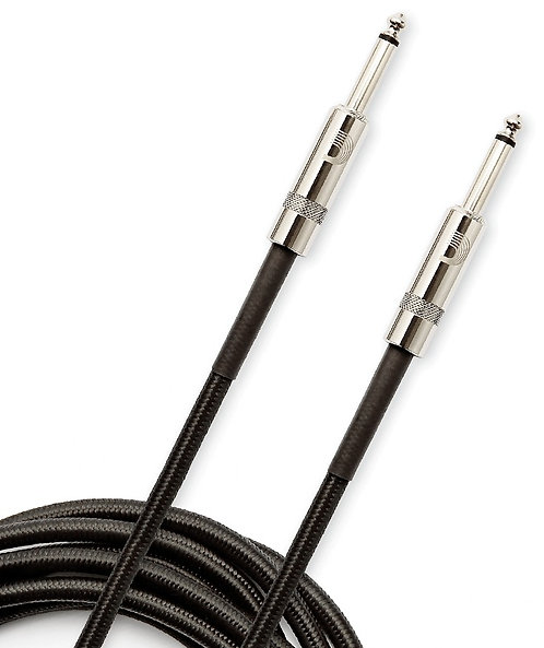 PLANET WAVES CUSTOM SERIES BRAIDED INSTRUMENT CABLE, BLACK, 20'