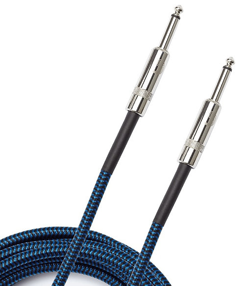 PLANET WAVES BRAIDED INSTRUMENT CABLE, 15' - BLUE