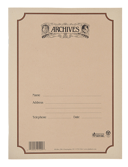 ARCHIVES SPIRAL BOUND MANUSCRIPT PAPER BOOK, 12 STAVE, 48 PAGES