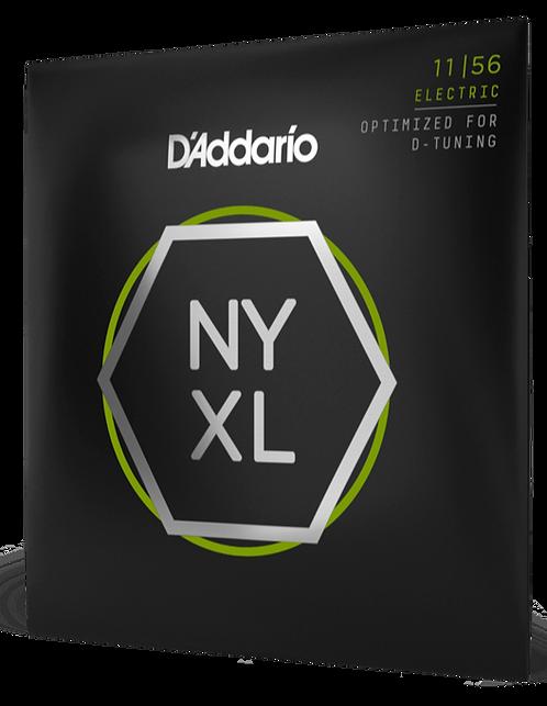 D'ADDARIO NYXL1156 NICKEL WOUND , MEDIUM TOP / EXTRA-HEAVY BOTTOM, 11-56