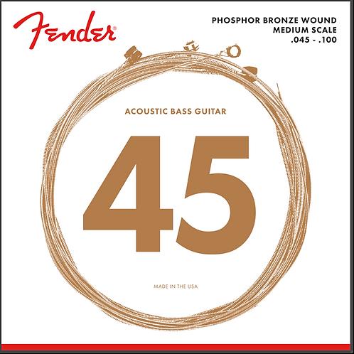 FENDER PHOSPHO BRONZE ACOUSTIC BASS 7060 45-100