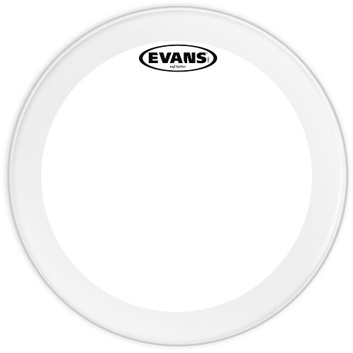 EVANS EQ3 CLEAR BASS DRUM HEAD, 22 INCH
