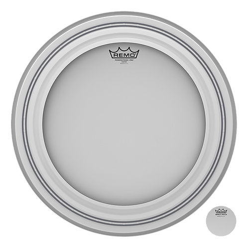 REMO POWERSTROKE PRO COATED BASS DRUMHEAD, 18""