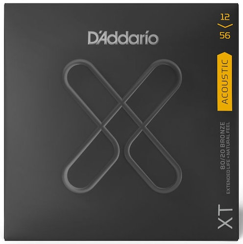 D'ADDARIO XT ACOUSTIC 80/20 BRONZE, LIGHT TOP/MEDIUM BOTTOM, 12-56