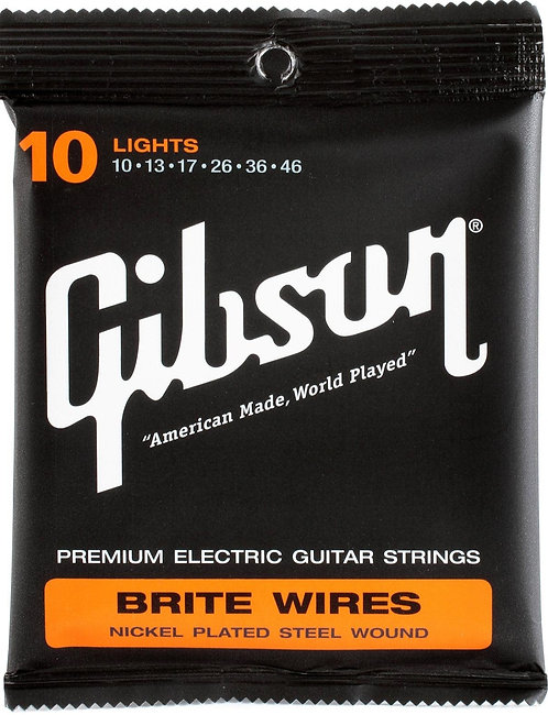 GIBSON BRITE WIRES ELECTRIC GUITAR STRINGS LIGHTS - SEG-700L
