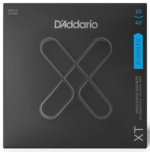 D'ADDARIO XT ACOUSTIC PHOSPHOR BRONZE, 12-STRING LIGHT, 10-47