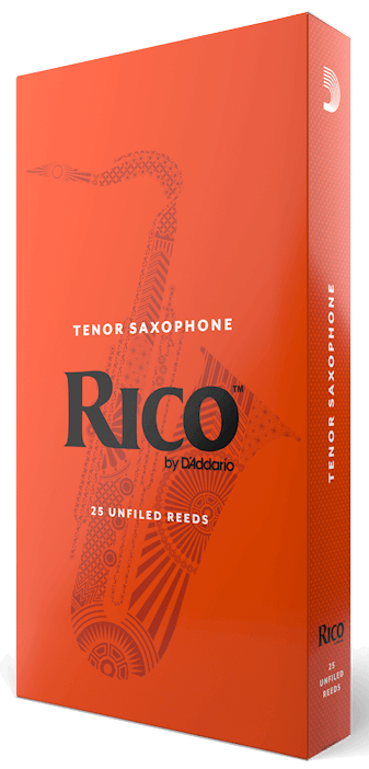 RICO BY D'ADDARIO TENOR SAX REEDS, STRENGTH 2, 25-PACK