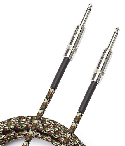 PLANET WAVES BRAIDED INSTRUMENT CABLE, 15' - CAMOUFLAGE