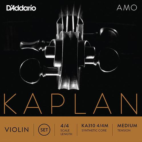 D'ADDARIO KAPLAN AMO VIOLIN STRING SET, 4/4 SCALE, MEDIUM TENSION