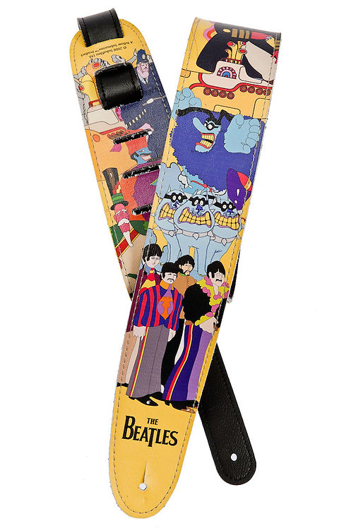 D'ADDARIO BEATLES GUITAR STRAP, YELLOW SUBMARINE