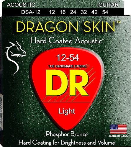 DR STRINGS DRAGON SKIN DSA-12
