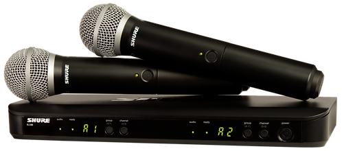 SHURE BLX288/PG58 WIRELESS VOCAL SYSTEM W/2 PG58 HANDHELD TRANSMITTERS