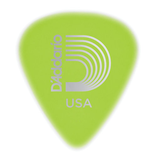 D'ADDARIO CELLU-GLOW GUITAR PICKS, MEDIUM, 10 PACK