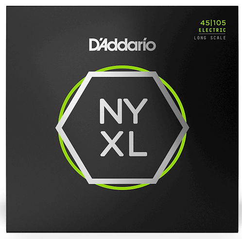 D'ADDARIO NYXL45105 NICKEL WOUND , LIGHT TOP / MED BOTTOM, 45-105, LONG SCALE