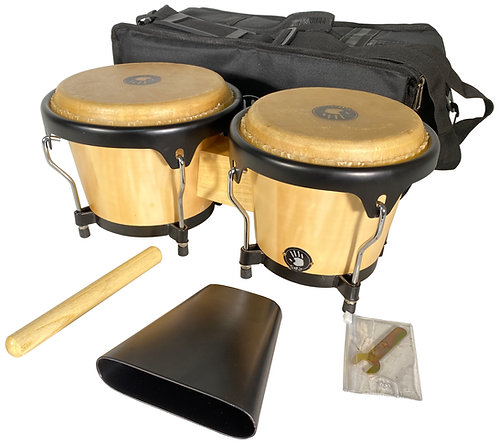 5d2-BG455-NT BONGO PACK WITH PADDED BAG AND COWBELL