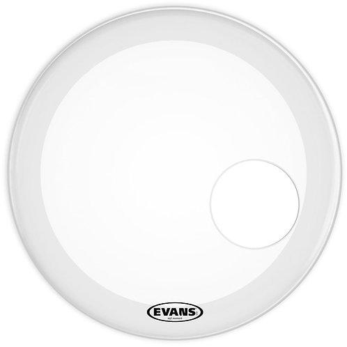 EVANS EQ3 RESONANT COATED WHITE BASS DRUM HEAD, 18 INCH