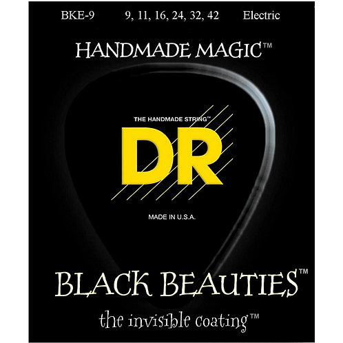 DR STRINGS BLACK BEAUTIES 942 BKE-9