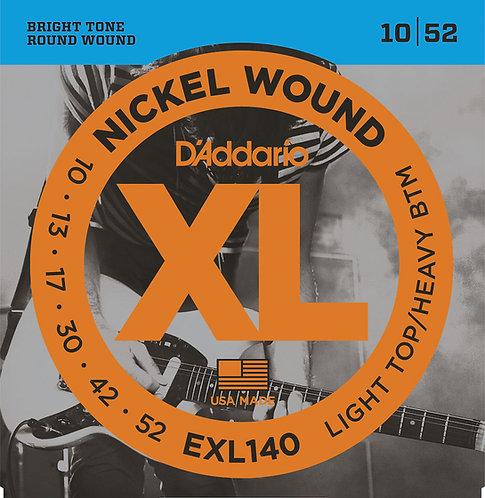 D'ADDARIO EXL140 NICKEL WOUND , LIGHT TOP/HEAVY BOTTOM, 10-52