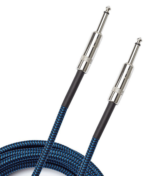 PLANET WAVES BRAIDED INSTRUMENT CABLE, 10' - BLUE