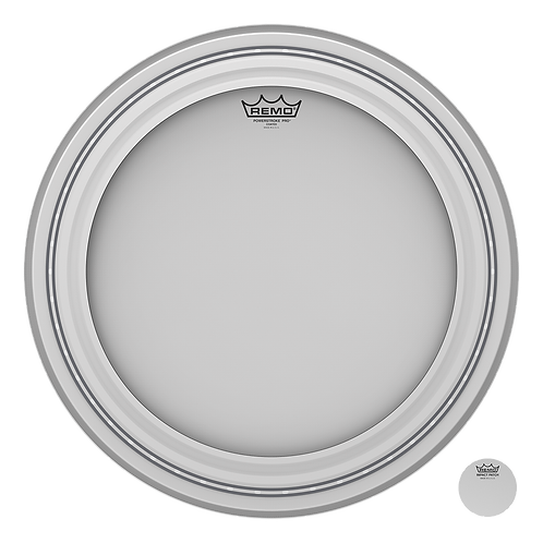 REMO POWERSTROKE PRO COATED BASS DRUMHEAD, 20""