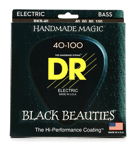 DR STRINGS 40-100 LITE 4-STRING BKB-40