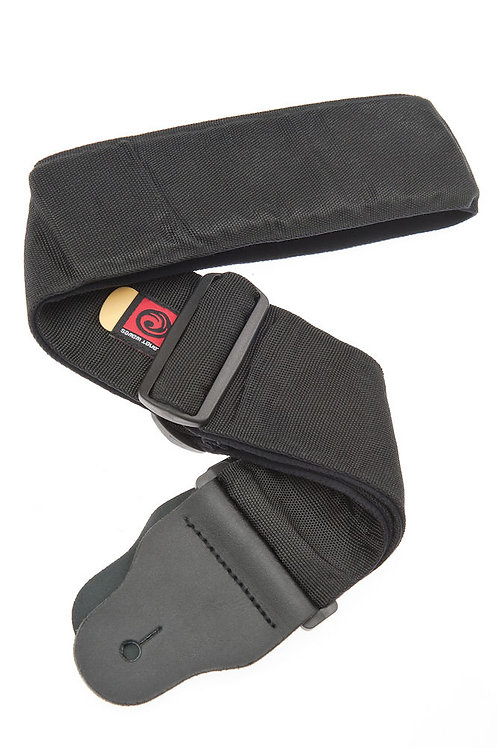 PLANET WAVES BASS GUITAR STRAP W/ INTERNAL PAD, BLACK, 3 INCHES WIDE