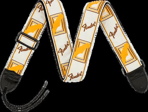 FENDER WHITE/BROWN/YELLOW MONO STRAP
