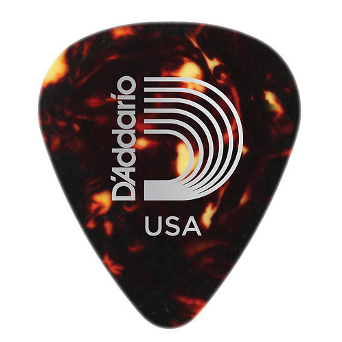 D'ADDARIO SHELL-COLOR CELLULOID GUITAR PICKS, HEAVY