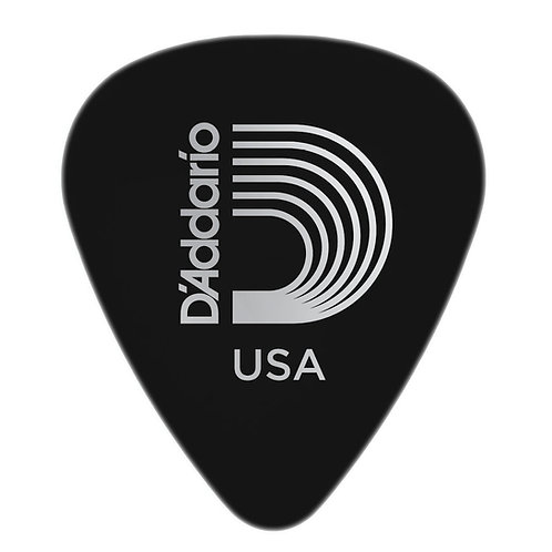 D'ADDARIO BLACK CELLULOID GUITAR PICKS, HEAVY
