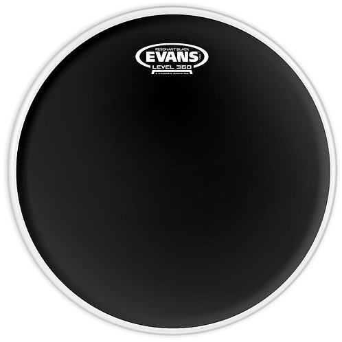 EVANS RESONANT BLACK DRUM HEAD, 10 INCH