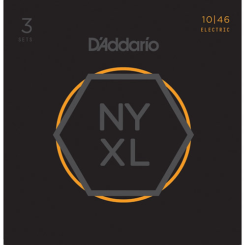 D'ADDARIO NYXL1046 NICKEL WOUND , REGULAR LIGHT, 10-46