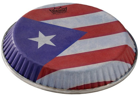 REMO SYMMETRY SKYNDEEP CONGA DRUMHEAD - PUERTO RICAN FLAG GRAPHIC, 12.50""