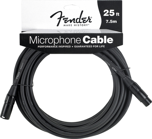 FENDER FENDER 25' MICROPHONE CABLE
