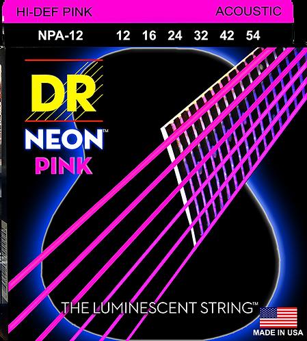DR STRINGS HI DEF PINK NPA-12