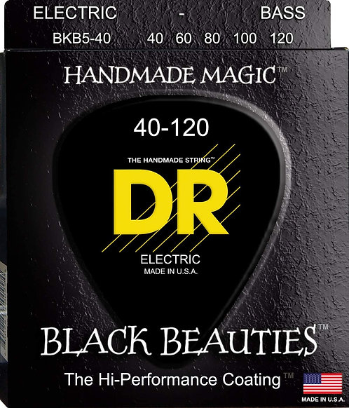 DR STRINGS BLACK BEAUTY   BKB5-40