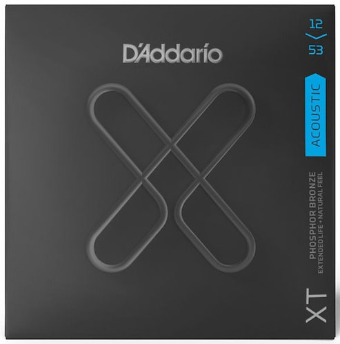 D'ADDARIO XT ACOUSTIC PHOSPHOR BRONZE, LIGHT, 12-53