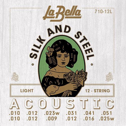 LA BELLA 710-12L STEEL SET 12 STRING