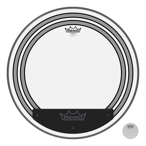 """REMO POWERSONIC CLEAR BASS DRUMHEAD, 20"""""""