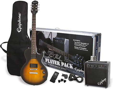 EPIPHONE LES PAUL PLAYER PACK 2 - PPEG-EGL1VSCH1