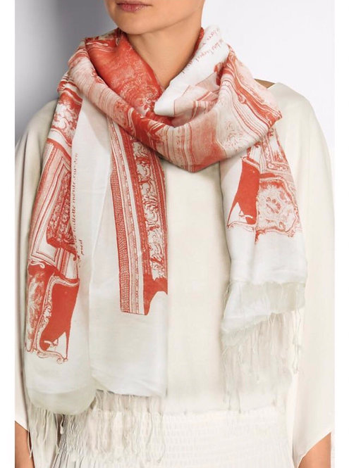Versailles Scarf Red