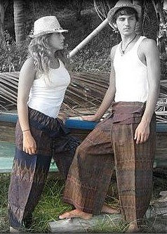 OLD SILK PANTS